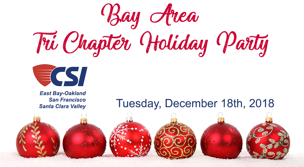 Bay Area Tri-Chapter Holiday Party