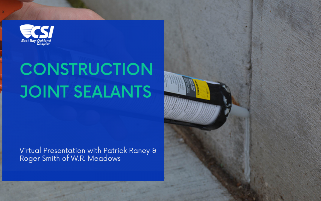 Joint Sealants Event Header Image