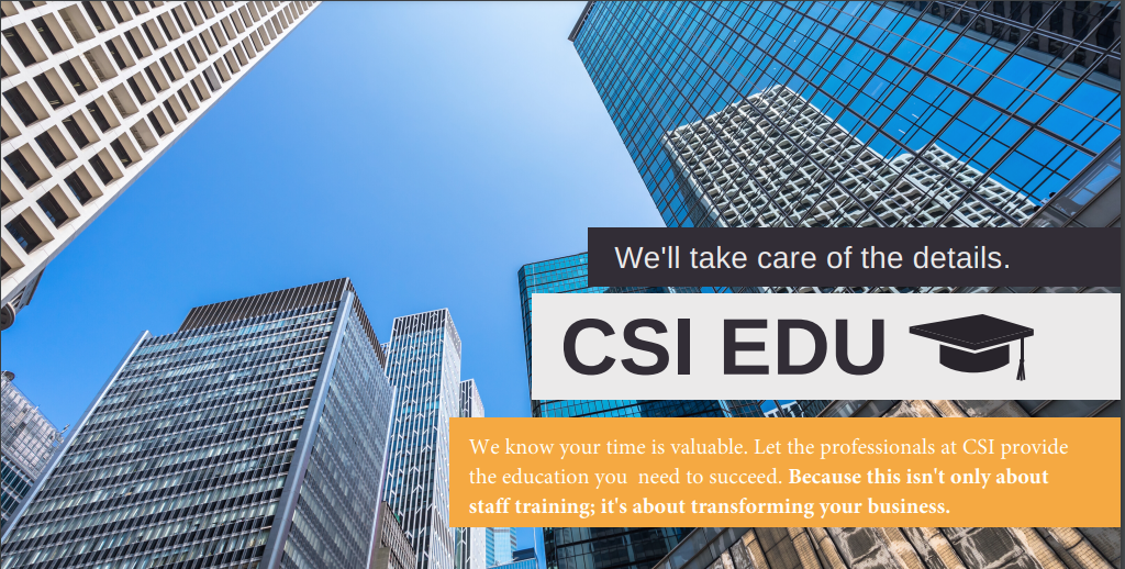 CSI West Region Project Delivery Education Program Header Image